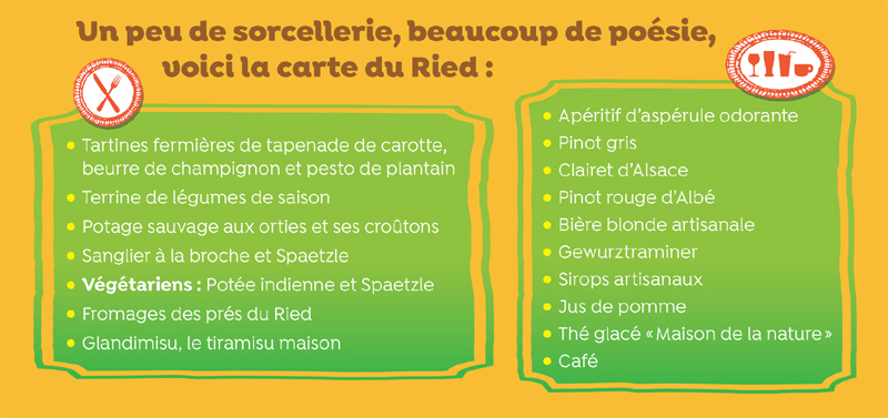 Menu du SensoRied gourmand